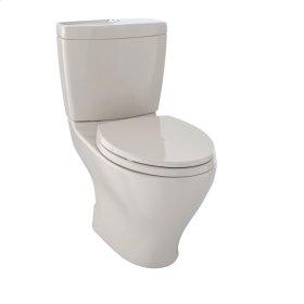 Aquia® Dual Flush Two-Piece Toilet, 1.6 GPF & 0.9 GPF, Elongated Bowl - Bone