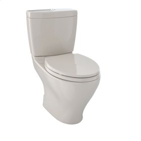 Aquia® Dual Flush Two-Piece Toilet, 1.6 GPF & 0.9 GPF, Elongated Bowl - Bone