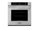 "Heritage 27"" Single Wall Oven in Black Glass - ships with Epicure Style black handle. Product Image"