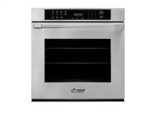 "Heritage 27"" Single Wall Oven in Black Glass - ships with Epicure Style black handle."