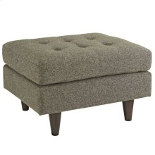 Empress Upholstered Fabric Ottoman in Oatmeal