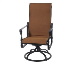 Grand Terrace Padded Sling High Back Swivel Rocker