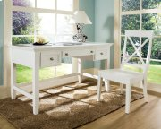 "Oslo Writing Desk, White 54""x28""x30"" Product Image"