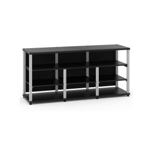 Salamander DesignsSynergy 30 Triple-Width Core Module with Center Opening, Black with Aluminum Posts