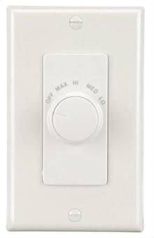Series Fan Wall Control for Ventilation Fans in White