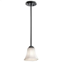 Serina Collection Serina 1 Light Mini Pendant in Black