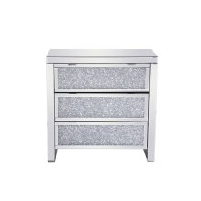 31.5 inch Crystal Cabinet Silver Royal Cut Crystal