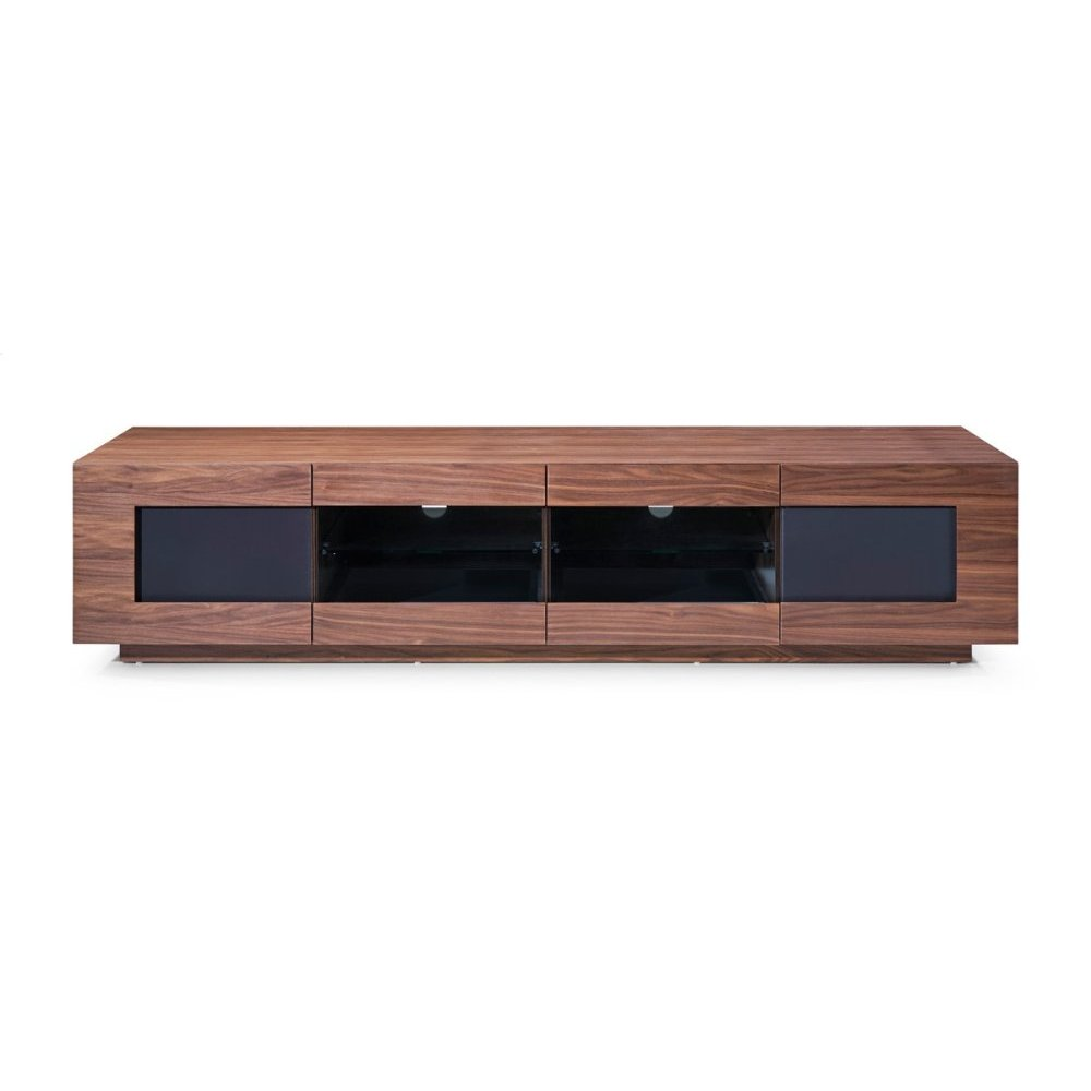 Modrest Frost Modern Small Walnut TV Stand