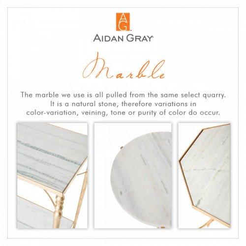 Cuadrado Marble Side Table