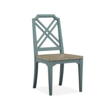 Dining Side Chair (2/ctn) - Dark Teal