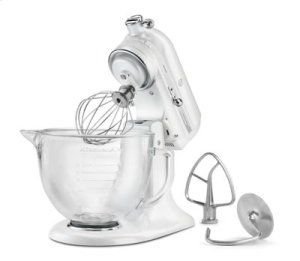 Artisan® Design Series 5 Quart Tilt-Head Stand Mixer with Glass Bowl - Frosted Pearl White