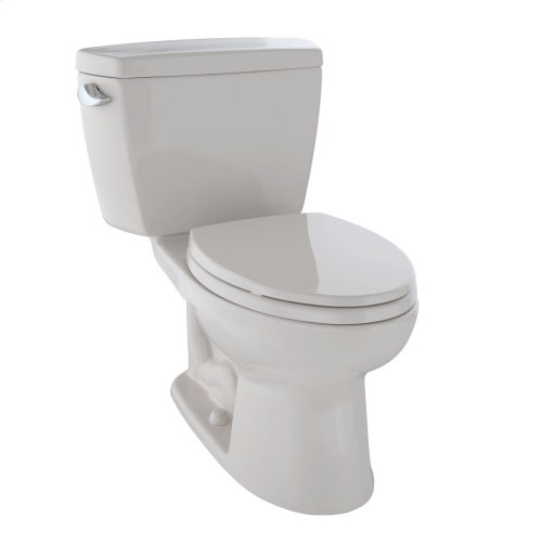 Eco Drake® Two-Piece Toilet, 1.28 GPF, ADA Compliant, Elongated Bowl - Sedona Beige