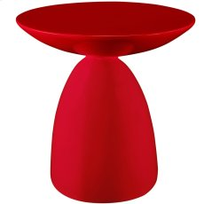 Flow Fiberglass Side Table in Red Product Image