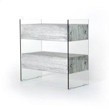 Pale Grey Finish Houston 2 Drawer Dresser