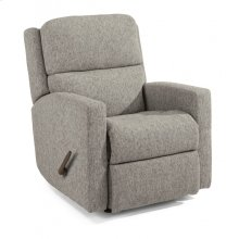 Chip Fabric Swivel Gliding Recliner