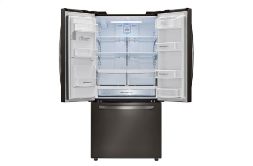 LG Black Stainless Steel 24.2. cu. ft. Ultra Capacity 3-Door French Door Refrigerator