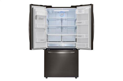 LG Black Stainless Steel 24.2. cu. ft. Ultra Capacity 3-Door French Door Refrigerator