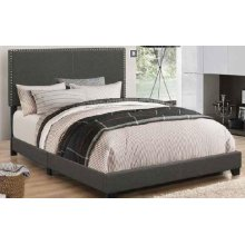 Boyd Upholstered Charcoal Twin Bed