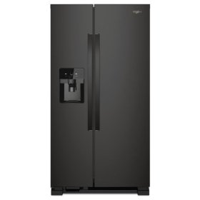 Whirlpool® 36-inch Wide Side-by-Side Refrigerator - 25 cu. ft. - Black