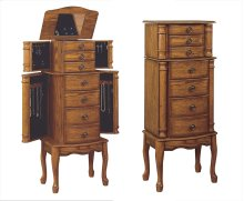 """Woodland Oak"" Jewelry Armoire"
