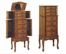"""Woodland Oak"" Jewelry Armoire Product Image"