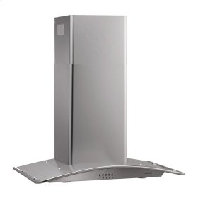 """35-7/16"""" Arched Stainless Steel Chimney Hood"""