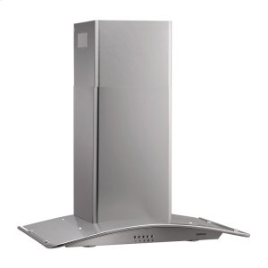 "Broan35-7/16"" Arched Stainless Steel Chimney Hood"