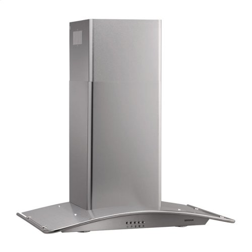 "35-7/16"" Arched Stainless Steel Chimney Hood"