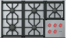 """36"""" Professional Gas Cooktop - 5 Burners"""