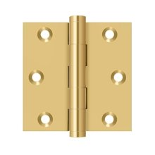 """3""""x 3"""" Square Hinge - PVD Polished Brass"""