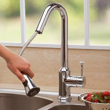 Pekoe 1-Handle Pull Down High-Arc Kitchen Faucet  American Standard - Polished Chrome