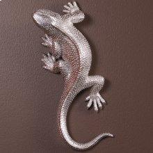 Lizard Figurine Bright Textured Nickel