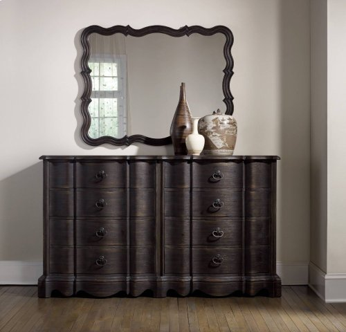 Corsica Dark Eight Drawer Dresser