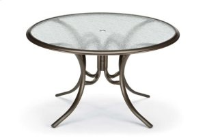 """56"""" Round Dining Table w/ hole Ogee Rim"""