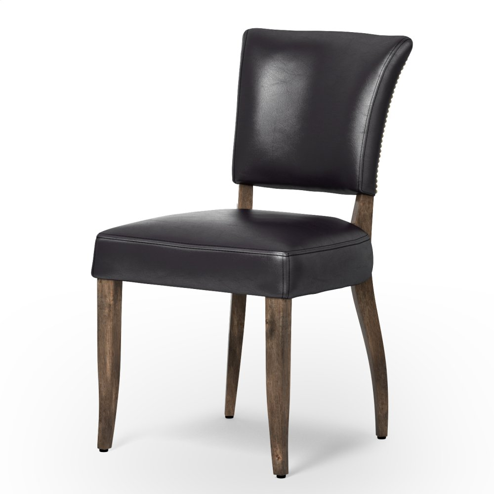 Old Saddle Black Cover Weathered Oak Finish Mimi Dining Chair