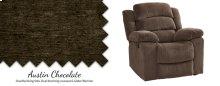 Chocolate Power Glider Recliner w/ Headrest