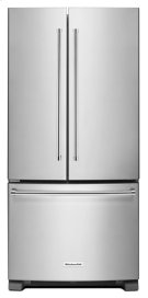 22 Cu. Ft. 33-Inch Width Standard Depth French Door Refrigerator with Interior Dispense - Stainless Steel Product Image