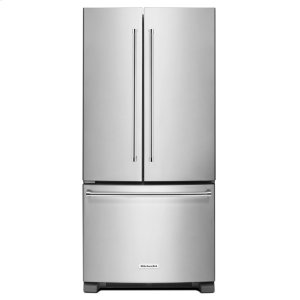 KitchenAid22 Cu. Ft. 33-Inch Width Standard Depth French Door Refrigerator with Interior Dispenser - Stainless Steel
