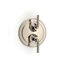 Dual Control Thermostatic With Diverter and Volume Control Valve Trim Taos Series 17 Polished Nickel