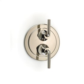 Dual Control Thermostatic with Diverter and Volume Control Valve Trim Taos (series 17) Polished Nickel