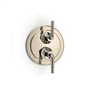 Dual Control Thermostatic with Diverter and Volume Control Valve Trim River (series 17) Polished Nickel