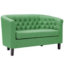 Prospect Upholstered Fabric Loveseat in Kelly Green