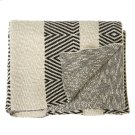 Black & White Diamond Knit Throw. Product Image