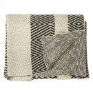 Black & White Diamond Knit Throw Product Image