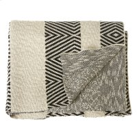 Black & White Diamond Knit Throw Product Image