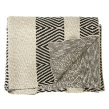 Black & White Diamond Knit Throw
