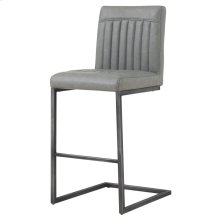 Ronan KD PU Counter Stool, Antique Graphite Gray