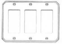 Triple Rocker Traditional Switchplate - Solid Brass in SB (Shaded Bronze, Lacquered)