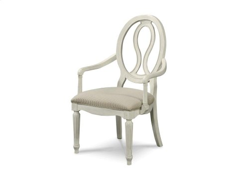Pierced Back Arm Chair - Cotton