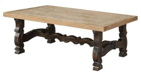 Emerald Home Barcelona Cocktail Table Natural Top, Brown Legs T551-0